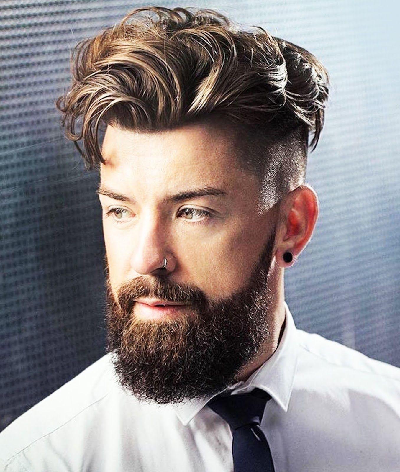 Kiểu tóc nam Undercut Long Slicked Back Hair với râu dài