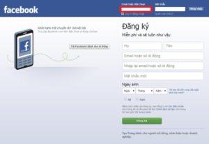 Hướng dẫn đăng nhập trang cá nhân Facebook