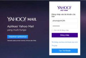 Đăng ký, đăng nhập, login yahoo mail