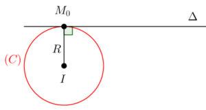 Định nghĩa và tính chất tiếp tuyến và dây cung ở đường tròn