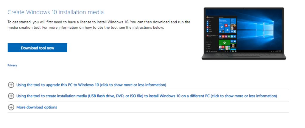 Hướng Dẫn Tạo USB/CD cài đặt Windows 10 [bước 1]